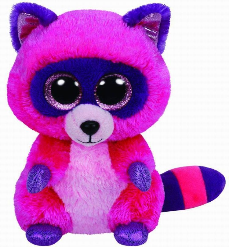 TY 37043 Beanie Boo's Мягкая игрушка Енот Roxie, 25 см