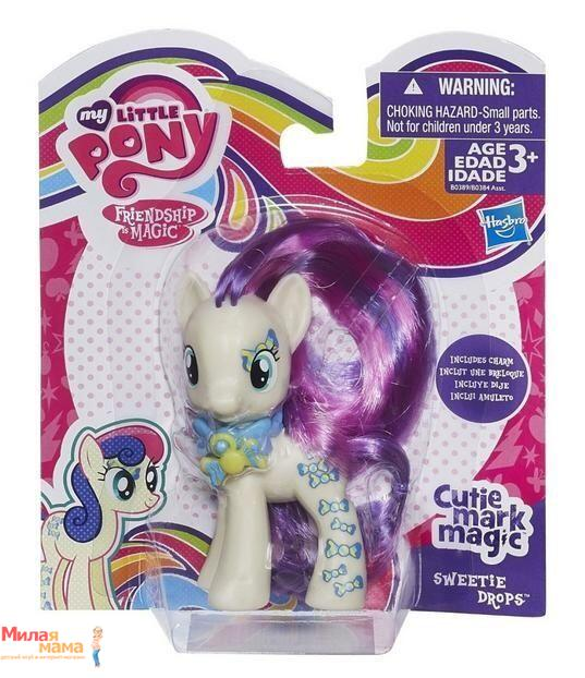 "My Little Pony Серия ""Cutie Mark Magic"" Пони Sweetie Drops с волшебным знаком (B0389)"