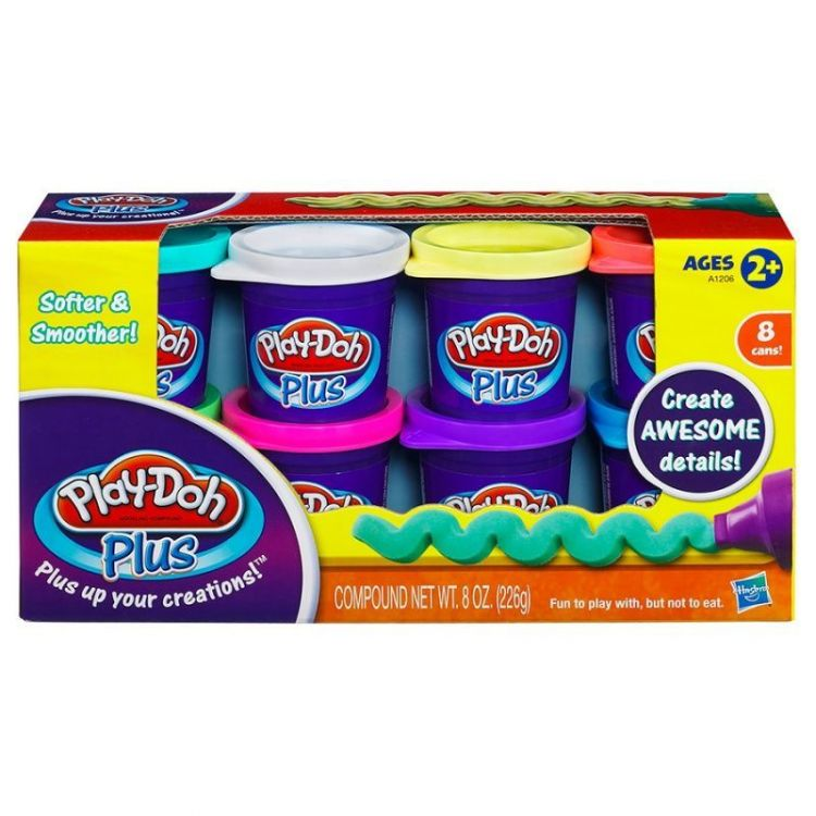 Play-Doh Plus A1206 Набор пластилина из 8 банок