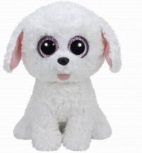 TY 37065 Beanie Boo's Мягкая игрушка Щенок Pippie белый, 23 см