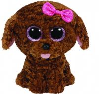 TY 37040 Beanie Boo's Мягкая игрушка Щенок Maddie, 23 см