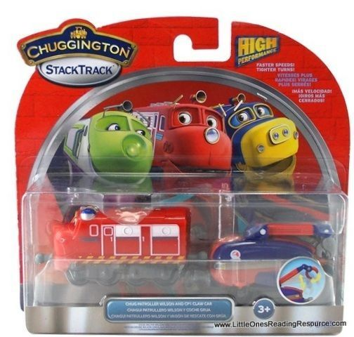Die-Cast Chuggington LC54123 Паровозик Уилсон-патруль с прицепом (кран)