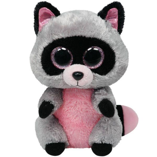 TY 34107 Beanie Boo's Мягкая игрушка Енот Rocco, 25 см
