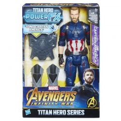 Hasbro E0607 Avengers Movie Фигурка Капитан Америка Пауэр Пэк, со звуком