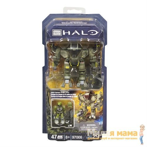 Mega Bloks 97006 Конструктор Halo Cyclops Jungle Strike, 47 деталей