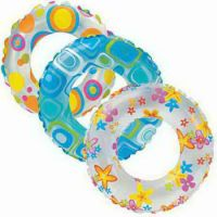 "INTEX int59230NP Круг надувной  ""Lively Print Swim Rings""(3-6лет) 51 см. 3 в. (Китай)"