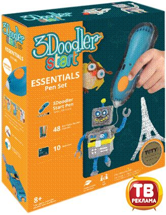 Wobble Works (HY) Limited 3DS-ESST-TNG-E 3Д Ручка 3DOODLER START, базовый набор (E-Comm)