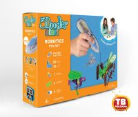 Wobble Works (HY) Limited 3DS-ROBP-MUL-R 3Д Ручка 3DOODLER START, подарочный набор Роботы