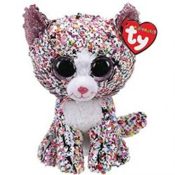 TY 36358 Flippable Мягкая игрушка Кот Confetti с пайетками, 15 см