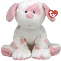 TY 31033 Pluffies Мягкая игрушка Щенок Pups Pink, 25 см