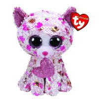 TY 36340 Flippable Мягкая игрушка Кот Cupid с пайетками, 15 см