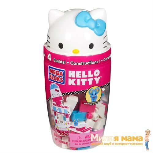 Mega Bloks 10952 Конструктор Hello Kitty в тубусе, синий