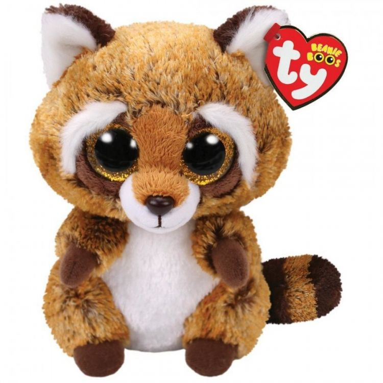 TY 36941 Beanie Boo's Мягкая игрушка Енот Rusty,15 см